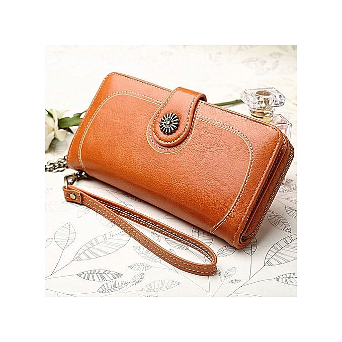 ad5fa55b439 Women Restore Ancient Ways Handbag Long Style Phone Bag Clutch Wallet Card  Purse——coffee