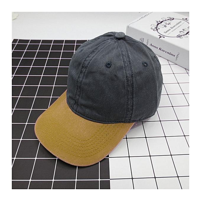 Unisex Washed Denim Baseball Hats Patchwork Two Tone Low Profile Six Panel  Adjustable Vintage Hat