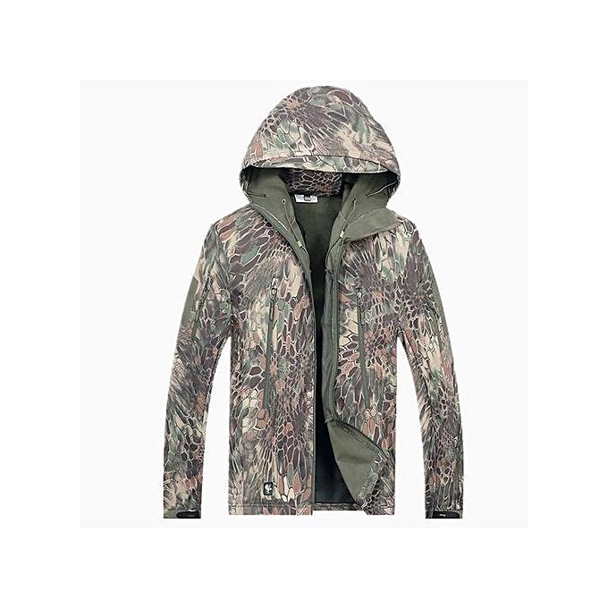 015e20d8c Buy FASHION TAD Shark Skin Jacket Warm Coat Waterproof Windbreaker ...
