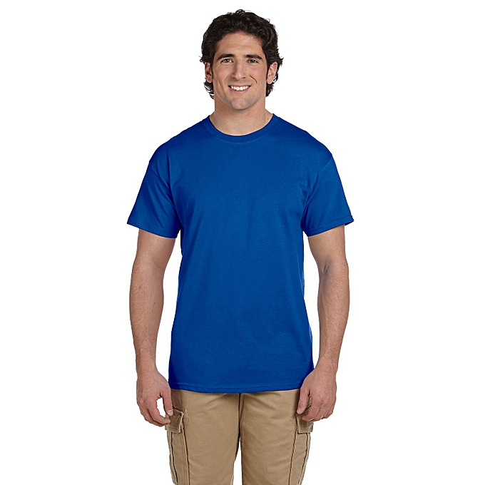 80f9667f8e Other Round neck Plain T-Shirt-Royal blue