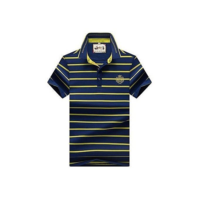 105397ae6 Refined Super Big Size 8097 Men Polo Shirt New Cotton Summer Striped Polo  Men Business Casual
