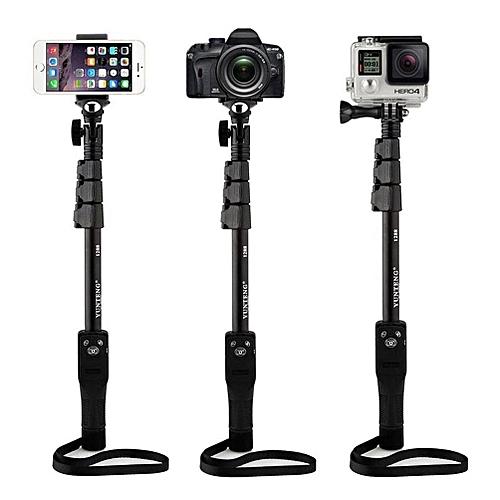 Yunteng YT-1288 Bluetooth Selfie Stick for Smartphones, Action Camera and  Digital Camera - Black