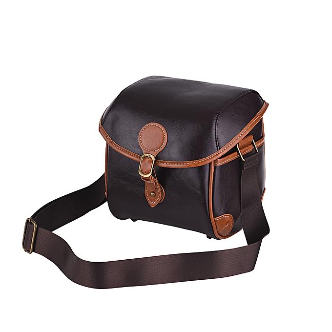 9042b977866f8 ... Vintage PU Leather DSLR Camera Bag Case Fashionable Shoulder Messenger  Camera Lens Bag for Sony A7 ...