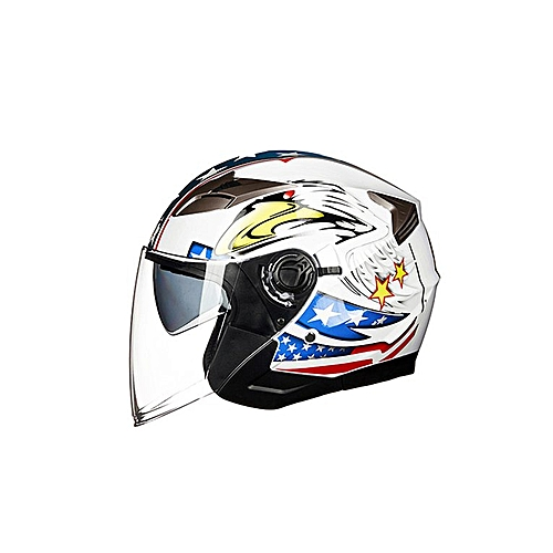 Buy Allwin Motorcycle Open Face Helmet Motorbike Moped Jet