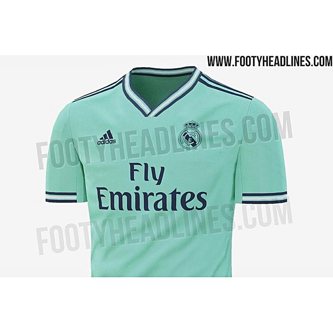 watch 1a6f6 1c80d Replica Real Madrid 2019/2020 Short Sleeve Jersey - Light Green