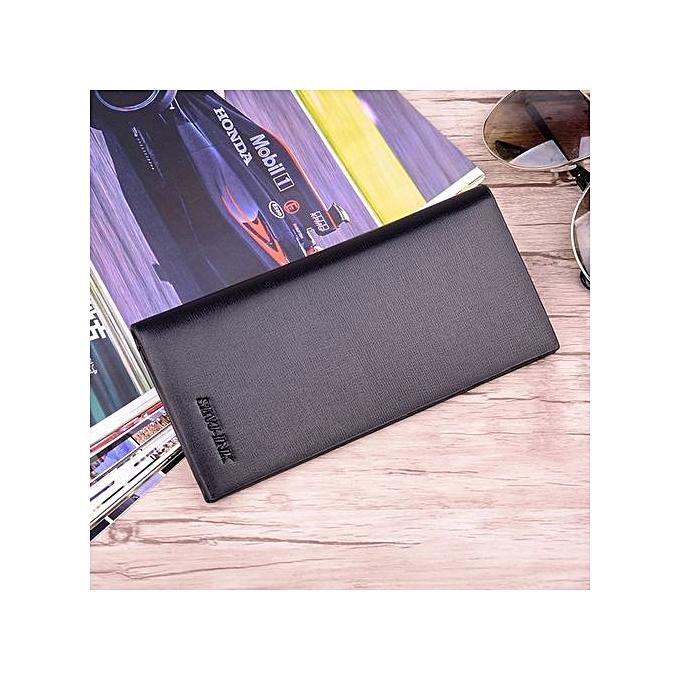 quality design 3597f db2e9 Men's Wallet Long Zip Multi Card Large Capacity Phone Bags Business  Wallet-black