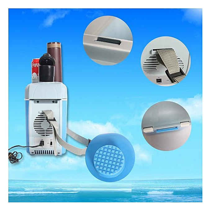 12v 7 5L Car Small Refrigerator Mini Compact Cooler Warmer Fridge