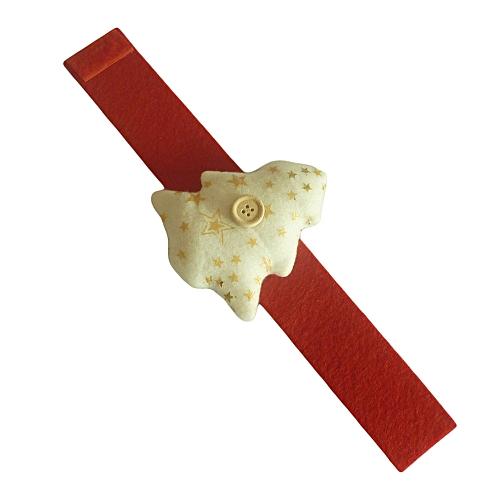 Hiamok Christmas Tree Snowflake Printed Ring Table Serviette Holder Napkin  Decor