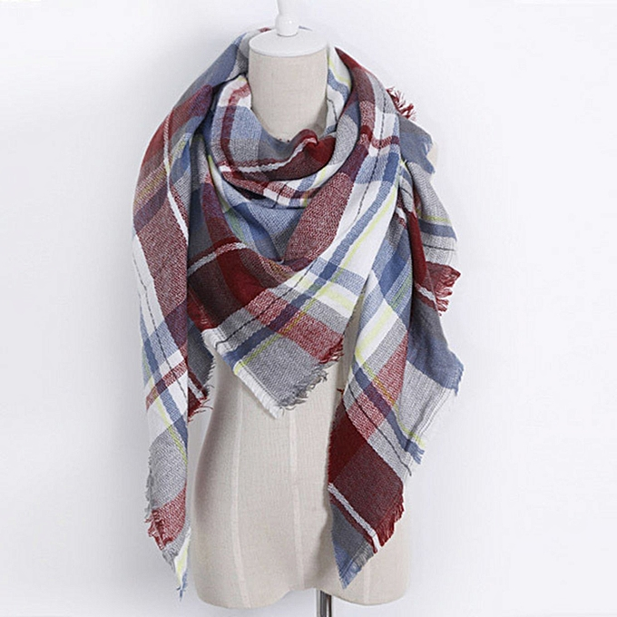 f8d5bbf0a3e82 Buy FASHION Winter Women Scarf Cashmere Plaid Blanket Scarves and ...