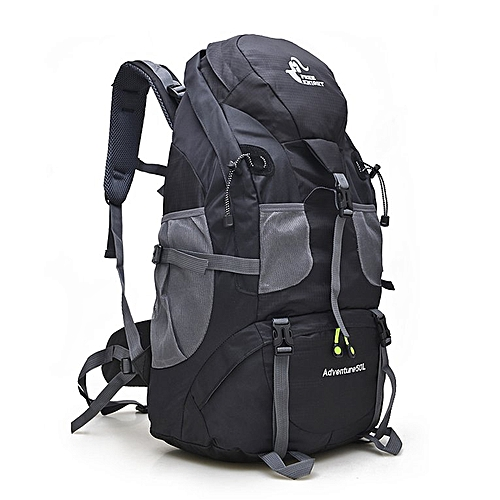 d462c2bd0b1c 50L Mountaineering bag Outdoor Hiking Walking Backpack black