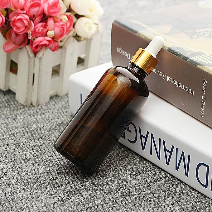 9cf6993f796f Glass Amber Bottles Empty Essential Oil Dropper Eye Aromatherapy 100ML