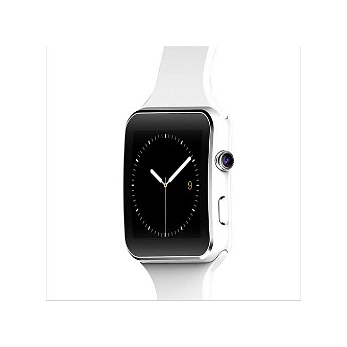X6 Bluetooth Smartwatch Sports Watch For Android Support Camera SIM  Card(White)