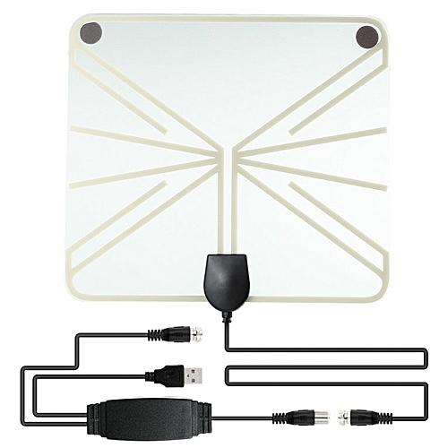 TV Antenna Aerial for Digital TV Indoor TV Antenna Amplifier Signal Booster  white