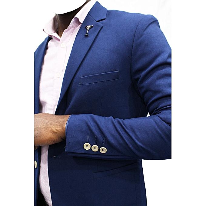 Blazers Jumia: New Designer Men's Blazer Royal - Blue
