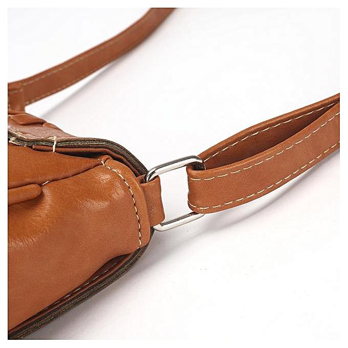 5b41f4aacd39 Haimok Retro Women Leather Tote Shoulder Crossbody Handbag Satchel  Messenger Bag BW