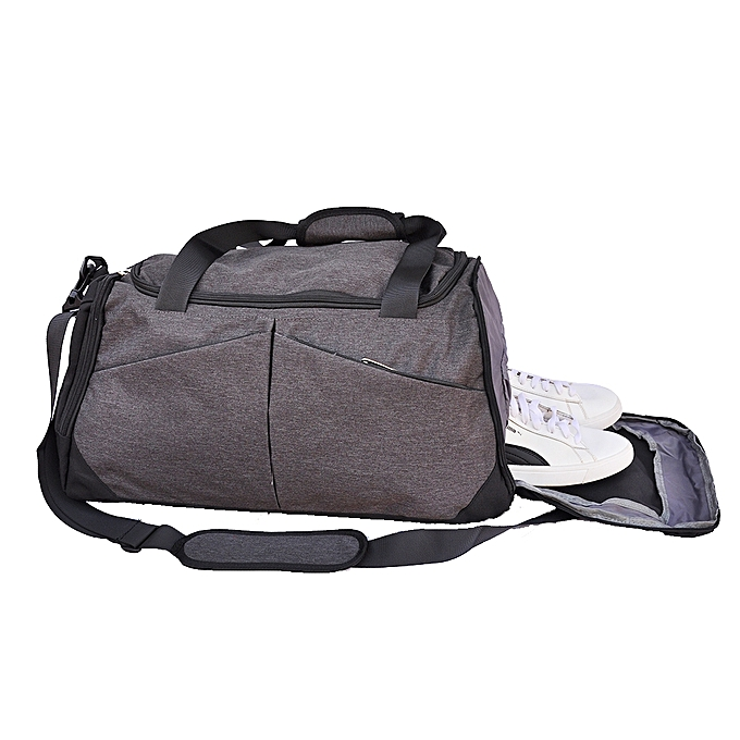 2ff697ab1ccf Sports Gym Travel Duffel Bag with Shoe Compartment - Grey