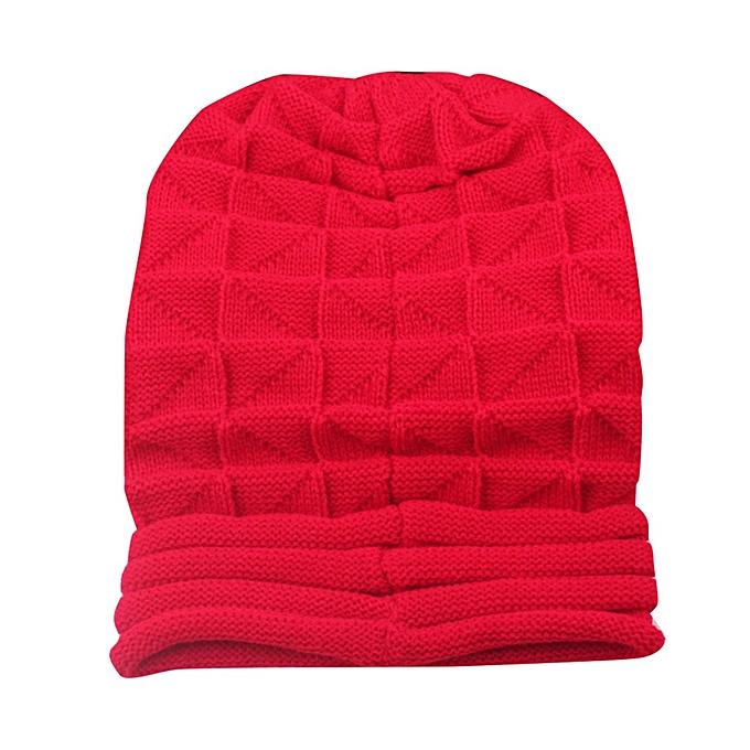 dfccdac49 Men Woman wool Knitted Warm Hats Autumn Winter Outdoor Windproof Beanies Cap