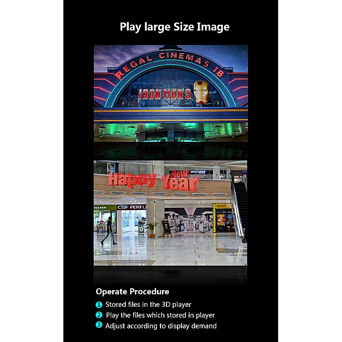 3D Hologram AD LED Fan Holographic Projector Display for Product  Presentation ADS Exhibition Decoration
