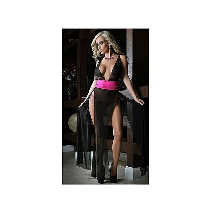 de1d43b59ec47 05 Nightwear Babydoll Dress Women Sexy Lingerie Faux Silk Lace Floral  Underwear Homewear G-string
