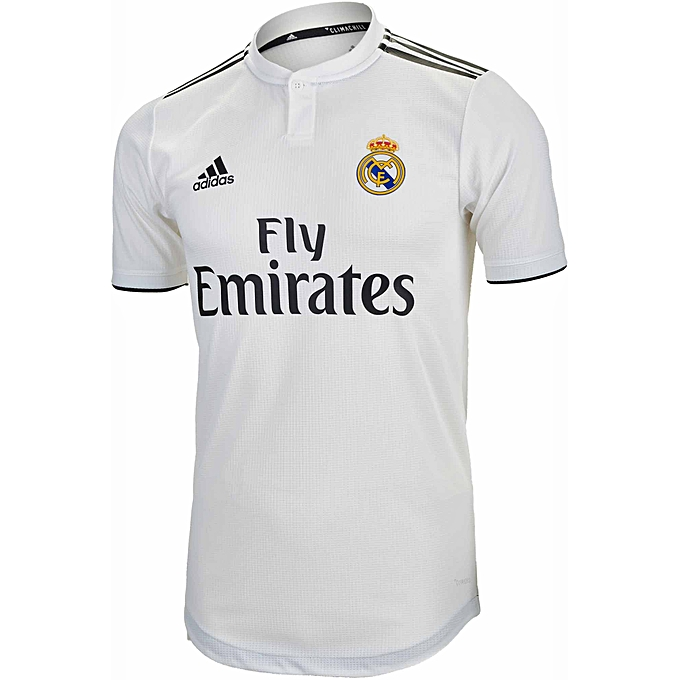 4d1f2f3aa6b White Label Real Madrid Home Authentic Jersey 2018-19 - White ...