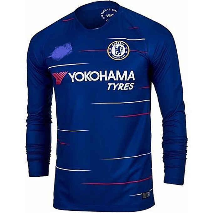 big sale 9e8f7 70f30 Replica Chelsea FC 2018/19 Long Sleeve Jersey - Navy Blue