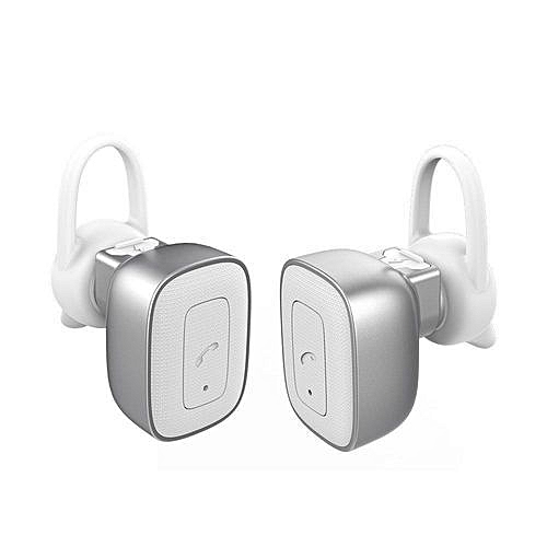 3cf1f8194e4 Buy Generic True Wireless Headphones Bluetooth Stereo Earbuds With Mic Dual  Cordless Earphones Noise Cancelling Sweatproof Headset - White online    Jumia ...
