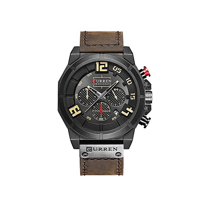 59b4120dc Mens Watches Top Brand Luxury Chronograph Quartz Watches Men 24 Hour Date Men  Sport Leather Wrist