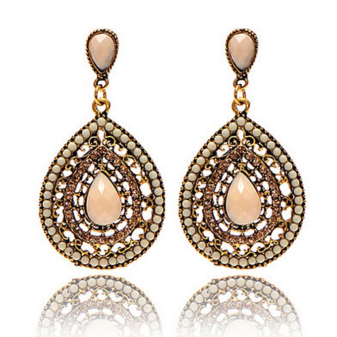 Bohemian Ear Studs Earrings For Women Black Ethnic Fashion Jewelry