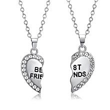 42ac3cb461 Hiamok Best Friend Unisex Mens Womens Heart Pendant Necklace Jewelry Chain  SL