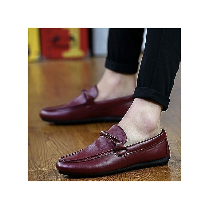 98a0b51dec09c Buy Generic Stylish Men's British Tide Shoes Soft Leather Loafers ...
