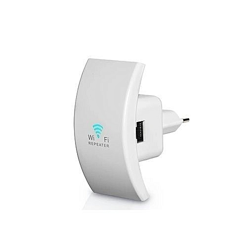 Wireless Wifi Repeater & AP Mode Inbuilt Antenna Curve - 300Mbs White