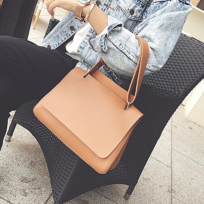 a76e554fd6c Haimok Fashion Women Leather Litchi Stria Handbag Cross Body Single  Shoulder Big Bag BW