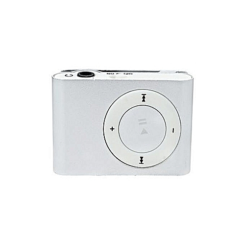 Portable Rechargeable Mini MP3 Player Clip USB FM Radio LCD Screen Support  for 32GB Micro SD - White