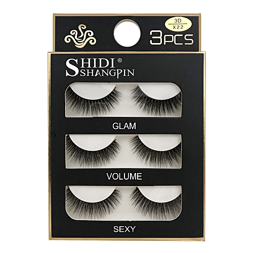 d09db0d8fa9 Buy Generic SHIDISHANGPIN 3 Pairs Mink Eyelashes 3D False Lashes Thick  Crisscross Makeup Eyelash Extension Natural Volume Soft Fake Eye Lashes  online ...