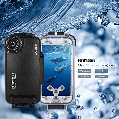 timeless design 59ea2 7e179 Diving Mobile Phone Waterproof Housing Smartphone Protective Case Cover  Underwater 40M/ 130ft for iPhone 8