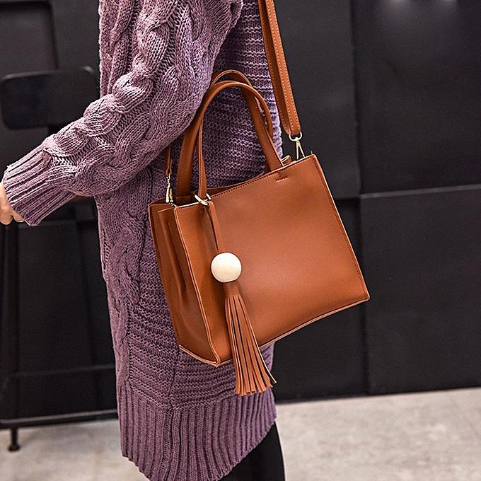 85ef8fb0a71 Haimok Fashion Women Handbag Shoulder Bag Messenger Large Tote Leather Ladies  Purse BW