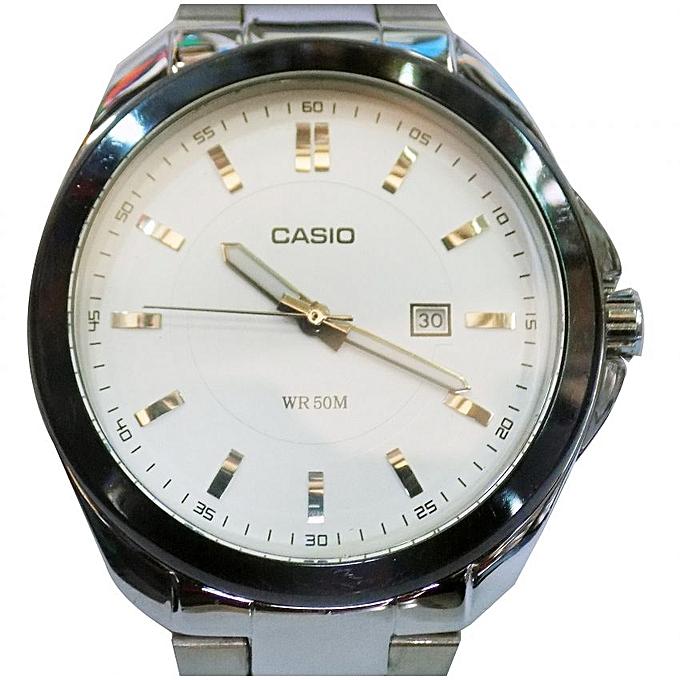 23f4c01076f Stainless Steel Analog Wrist Watch - Silver