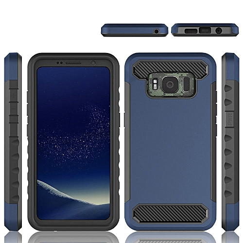 new arrivals 67964 543c9 Slim Simple Carbon Fiber Mobile Phone Case Cover For Samsung Galaxy S8  Active