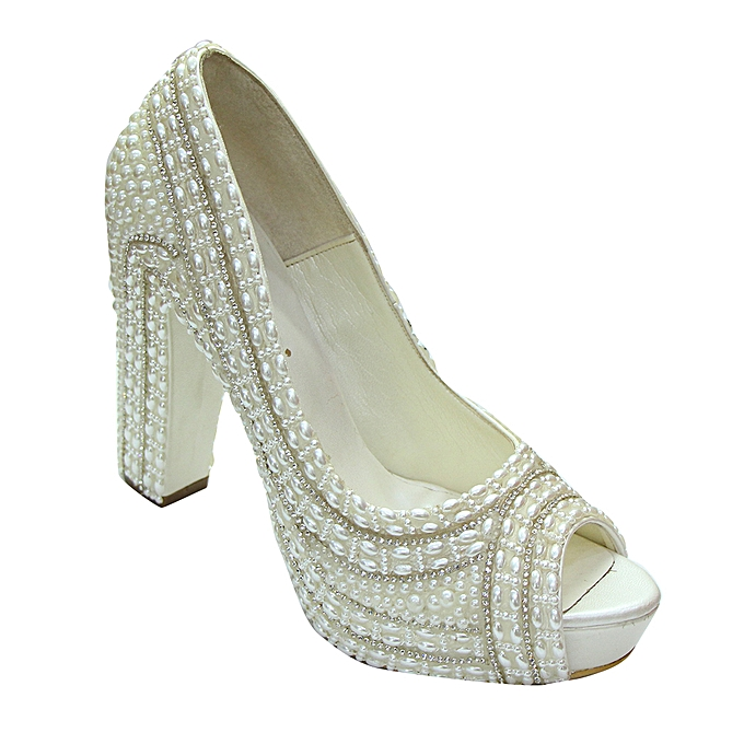 66df13278abbd Women's Bridal Shoes, 4 Inch - Off White