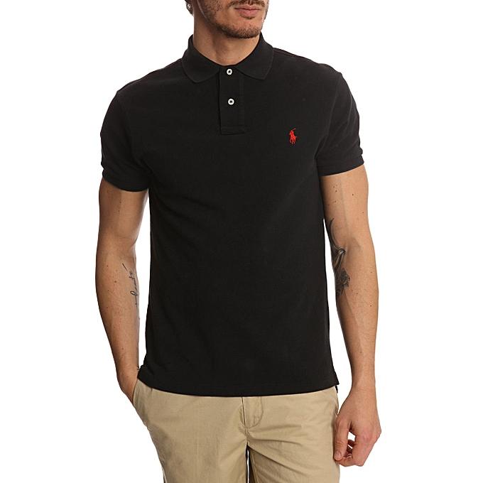 ba5e18bc Men's Detailed Polo T-shirt - Black