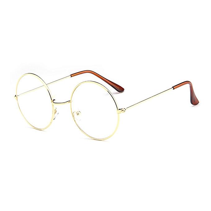 23a85dc33 Buy FASHION New Fashion Round Frame Plain Glasses Metal Optical ...
