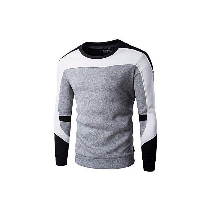 8637a2b7d Refined Winter Men'S Casual Fashion Tracksuit Streetwear Pullover Brand  Clothing Mens Patchwork Cotton O-Neck
