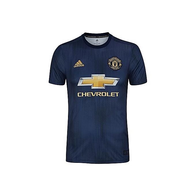5a79d28cf15 Replica Manchester United Football Club 2018 2019 Replica Away Jersey -  Navy blue