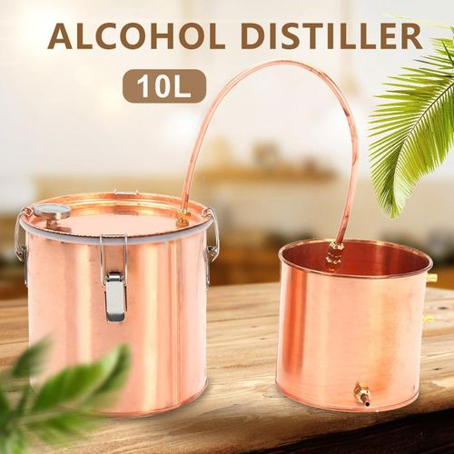 10L Alcohol Ethanol Wine Maker Moonshine Copper Stainless Boiler Distiller  Kit