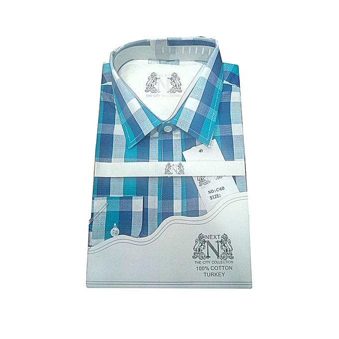 49ef81244 Buy Generic Long Sleeve Men's Checkered Cotton Designer Shirt ...