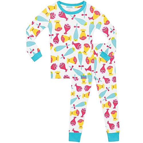 2b77513408 Generic Girls Trolls Snug Fit Long Pajama Set - Multi-Color