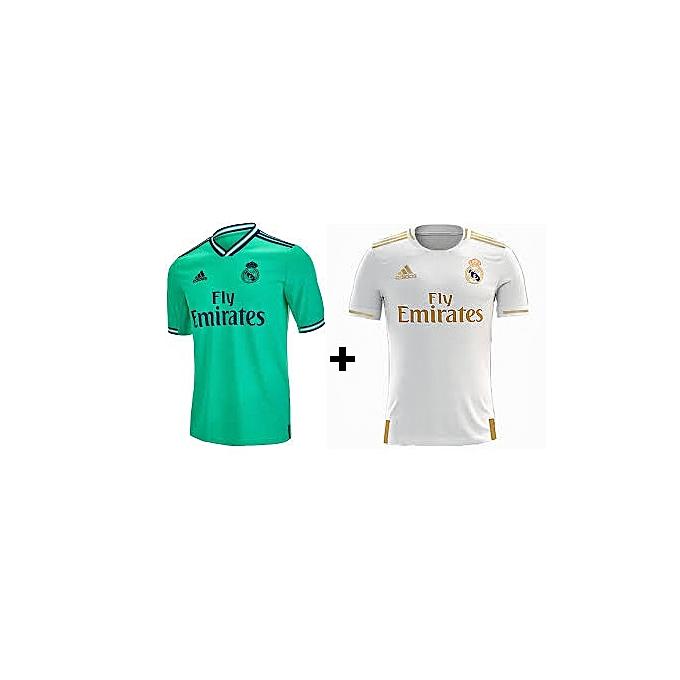sports shoes 70aa8 da01e 2 Home and away 2018/19 Real Madrid Jersies, Replica - White,Black