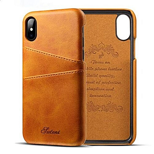 new style 34331 1512a Phone Case For Apple IPhone X Luxury Leather With Card Case IPhone X Fitted  Cases Mobile Phone Shell Hard Back Cover Cases - Orange