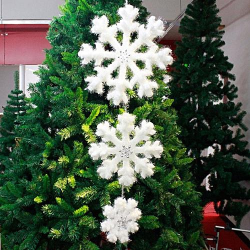 Buy Generic Pack of 3 White Foam Fantasies Snowflake Christmas Tree Ornaments Home Decor online | Jumia Uganda
