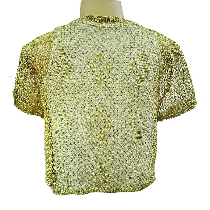 f77c08d6c8d Ladies Women's Knitted Shrugs Bolero Short Sleeves Cardigans - Cream